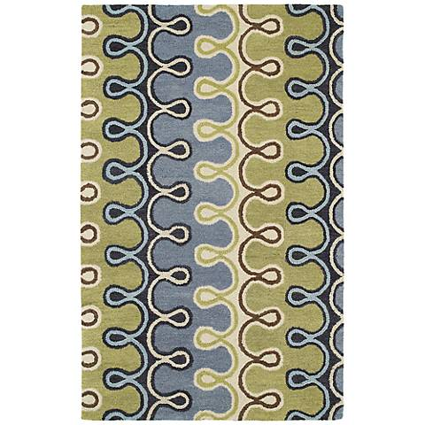 Kaleen Casual 5056-17 Axel Blue Wool Area Rug