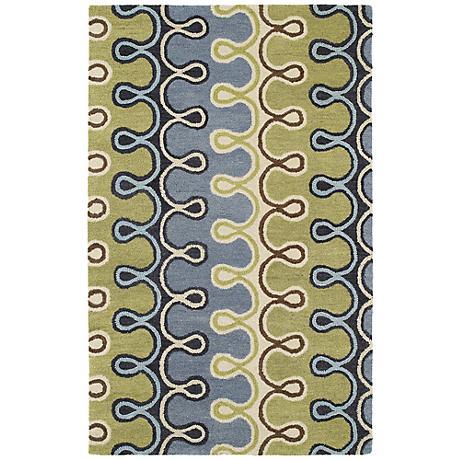 Kaleen Casual 5056-17 Axel Blue Wool Area Rug