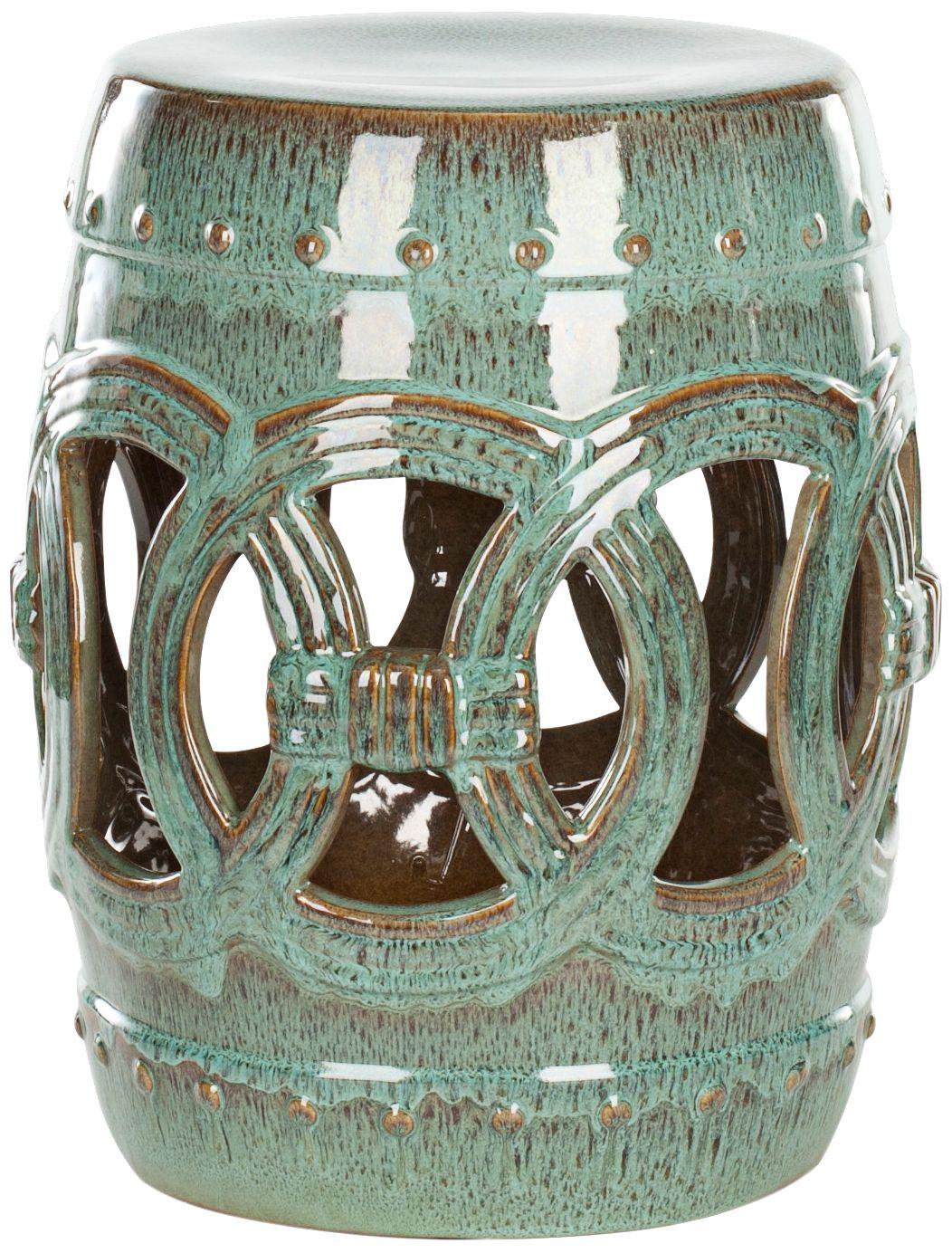 Safavieh Double Coin Blue-Green Ceramic Garden Stool  sc 1 st  L&s Plus & Garden Stools - Outdoor Decor | Lamps Plus islam-shia.org