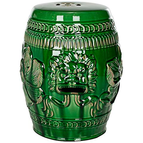 Safavieh Chinese Dragon Emerald Green Ceramic Garden Stool