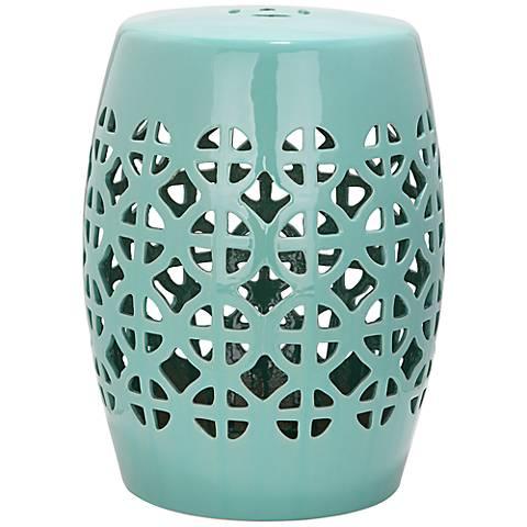 Safavieh Circle Lattice Robbins Egg Blue Ceramic Accent