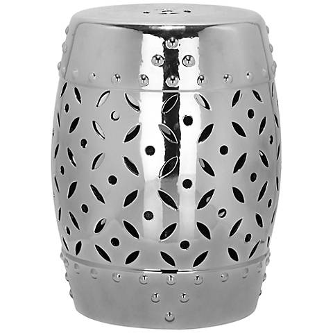 Safavieh Lattice Coin Silver Ceramic Garden Stool