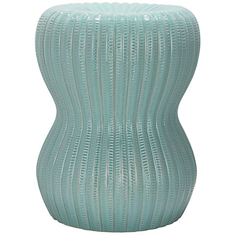 Safavieh Hour Glass Light Aqua Ceramic Garden Stool