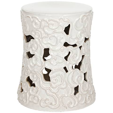 Safavieh Cloud White Ceramic Garden Stool