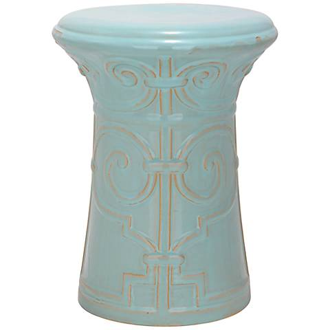 Safavieh Imperial Scroll Light Aqua Ceramic Accent