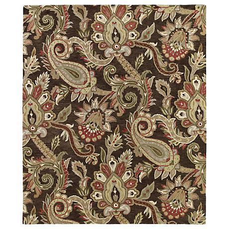 Kaleen Helena 3204-40 Odyusseus Chocolate Wool Area Rug