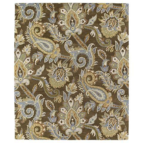 Kaleen Helena 3204-49 Odyusseus Brown Wool Area Rug