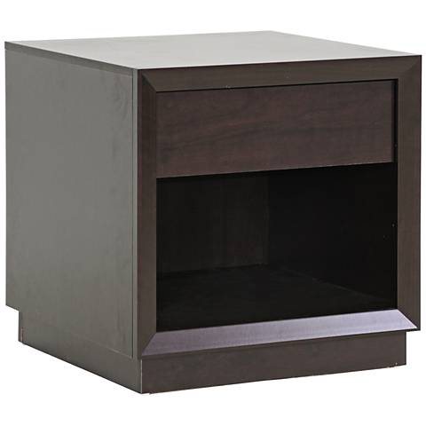 Girvin Faux Wood Accent Table Nightstand