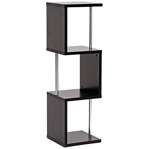 Lindy Dark Faux Wood 3-Tier Display Shelf