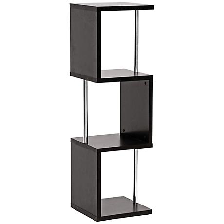 Lindy Dark Faux Wood 3-Tier Display Shelf