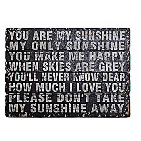 """You Are My Sunshine 27 1/2"""" Distressed Wooden Wall Art"""