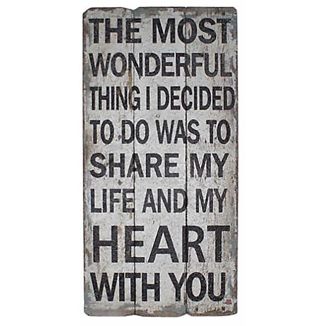 """Share My Life and Heart With You 31 1/2"""" High Wall Art"""