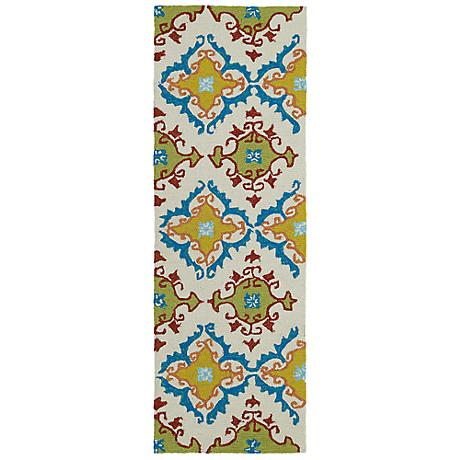 Kaleen Home & Porch 2030-01 Ivory And Yellow Rug