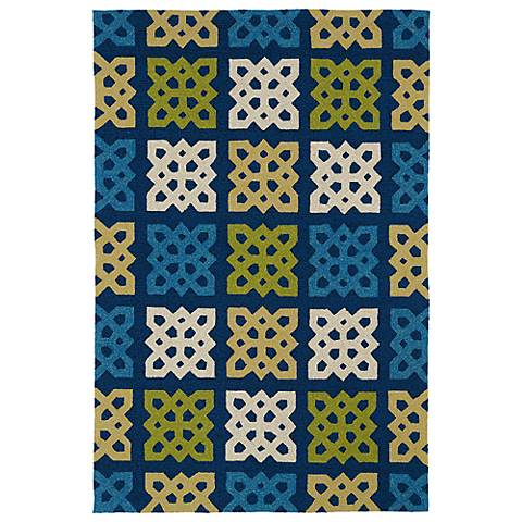 Kaleen Home & Porch 2032-17 Blue And Green Rug