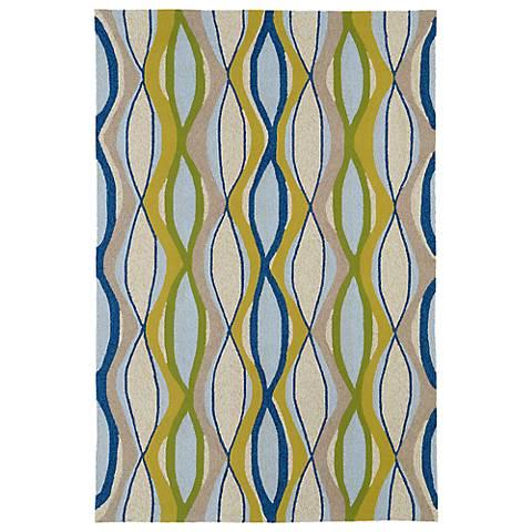 Kaleen Home & Porch 2034-17 Blue Wave Rug