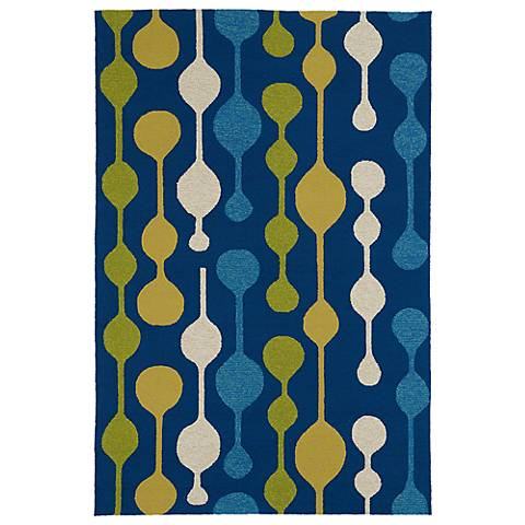 Kaleen Home & Porch 2035-17 Blue Drop Rug