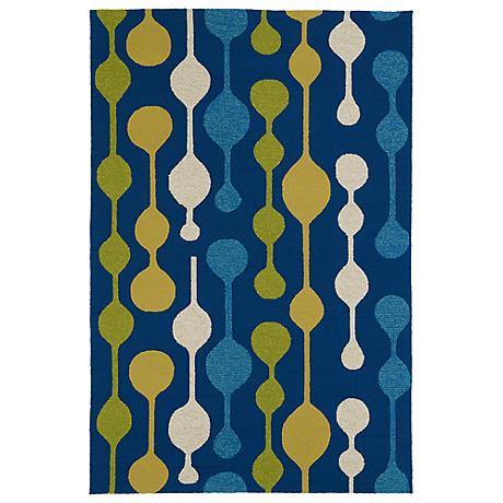 Kaleen Home & Porch 2035-17 Blue Drop Rug