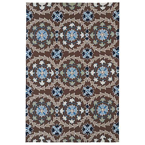 Kaleen Home & Porch 2036-17 Brown And Blue Rug