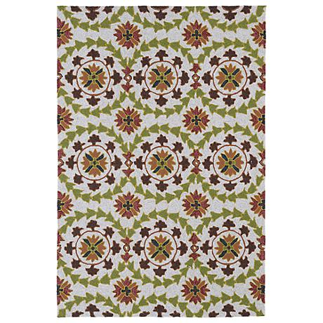 Kaleen Home & Porch 2036-49 Green And Brown Rug