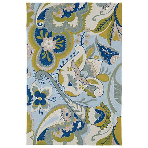 Kaleen Home & Porch 2037-56 Spa Floral Rug