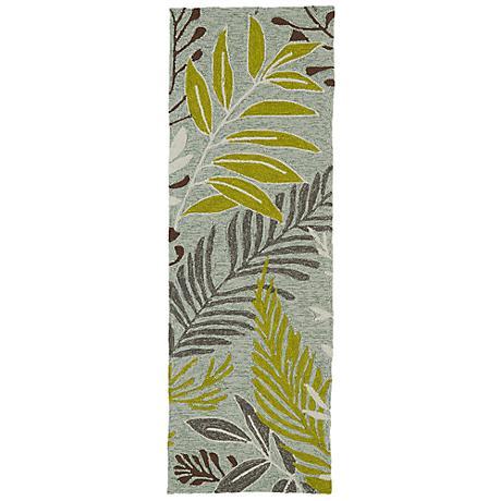 Kaleen Home & Porch 2038-70 Wasabi Leaf Rug
