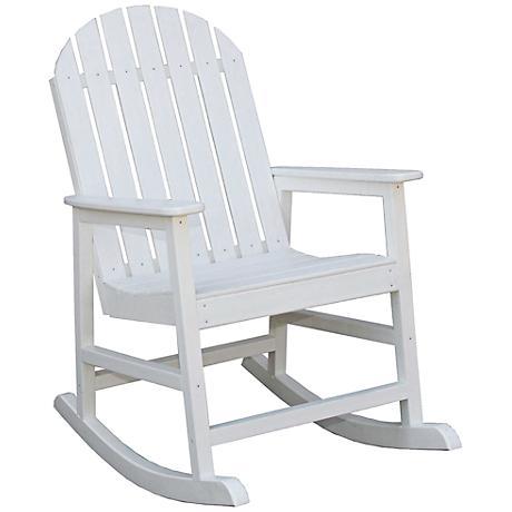 Alexandria White Outdoor Rocking Chair