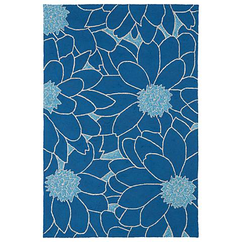 Kaleen Home & Porch 2041-17 Blue Floral Rug