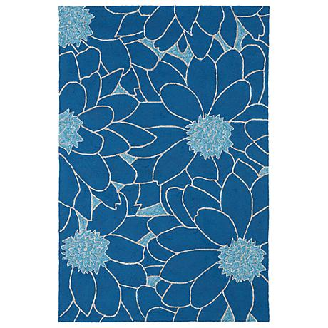 Kaleen Home & Porch 2041-17 Blue Floral Rug