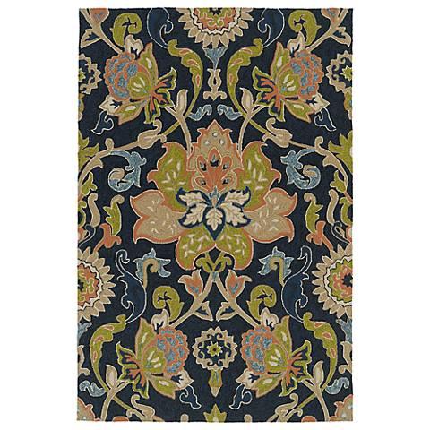 Kaleen Home & Porch 2042-22 Navy Floral Rug