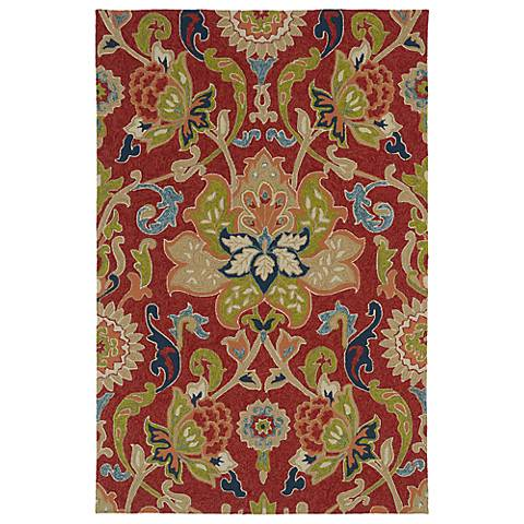 Kaleen Home & Porch 2042-25 Red Floral Rug
