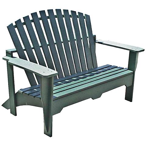 Kary Green Outdoor Adirondack Bench