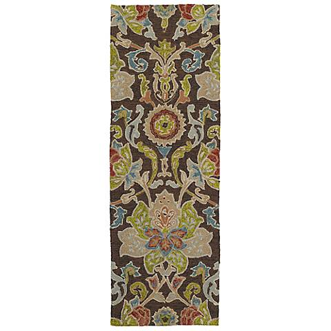 Kaleen Home & Porch 2042-40 Chocolate Floral Rug