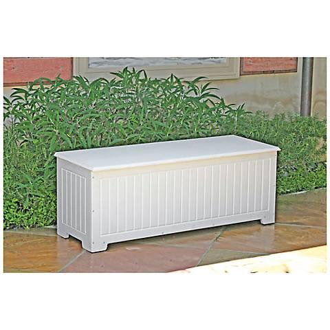 Sydney Small White Outdoor Deck Storage Trunk