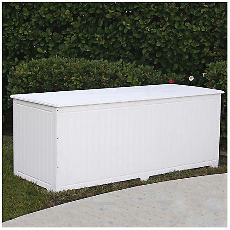 Sydney Large White Outdoor Deck Storage Trunk
