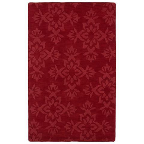 Kaleen Imprints Classic IPC04-25 Red Floral Rug