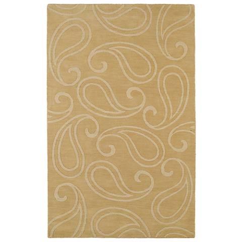 Kaleen Imprints Classic IPC05-28 Yellow Area Rug