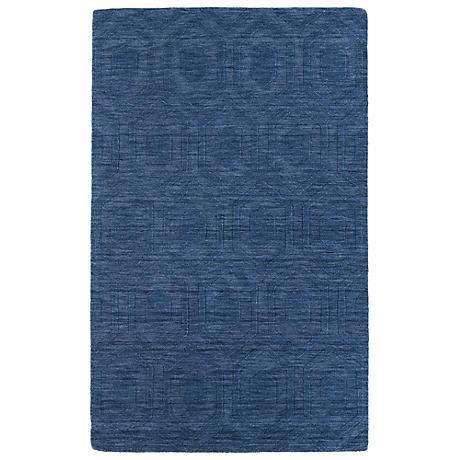 Kaleen Imprints Modern IPM01-17 Blue Hexagon Rug