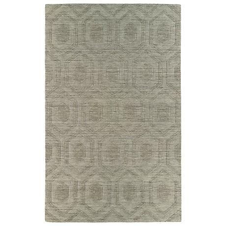 Kaleen Imprints Modern IPM01-82 Brown Hexagon Rug
