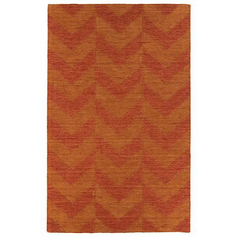 Kaleen Imprints Modern IPM05-53 Red Zig Zag Rug
