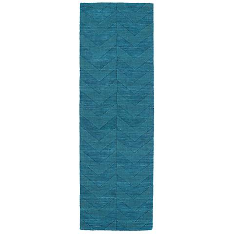 Kaleen Imprints Modern IPM05-78 Blue Zig Zag Rug