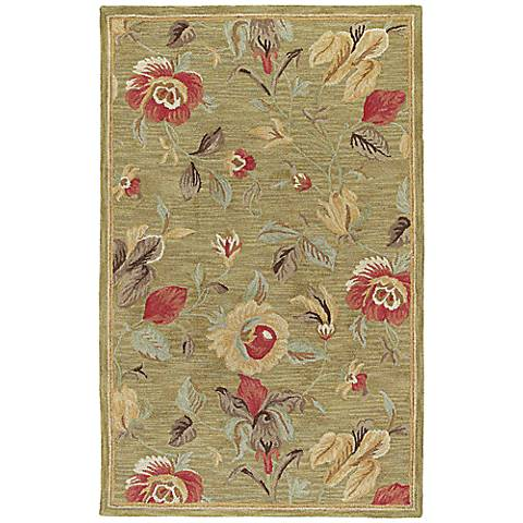 Kaleen Khazana 6557-23 Savannah Olive Wool Area Rug