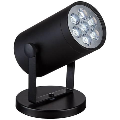 "Imperial Black 4 1/2"" High LED Uplight"