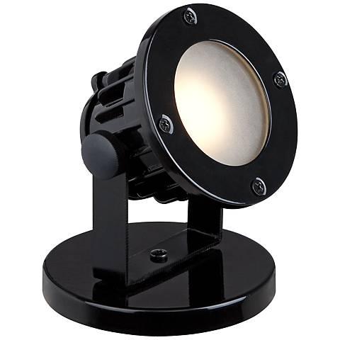 Virgil Black Plug-In LED Uplight