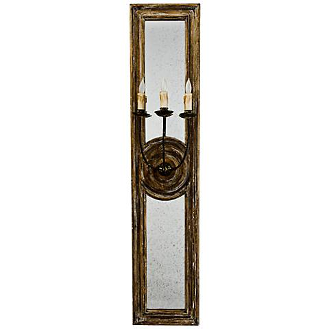 "Regina Andrew Design Three Arm 40"" High Mirror Wall Sconce"