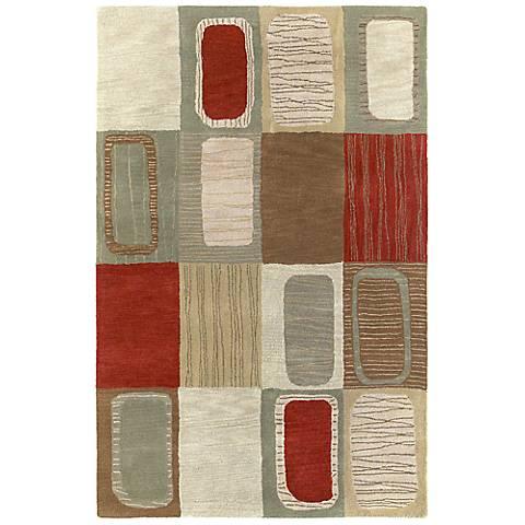 Kaleen Khazana 6565-57 Portals Salsa Wool Area Rug