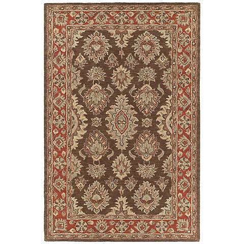 Kaleen Khazana 6579-51 Negril Coffee Wool Area Rug