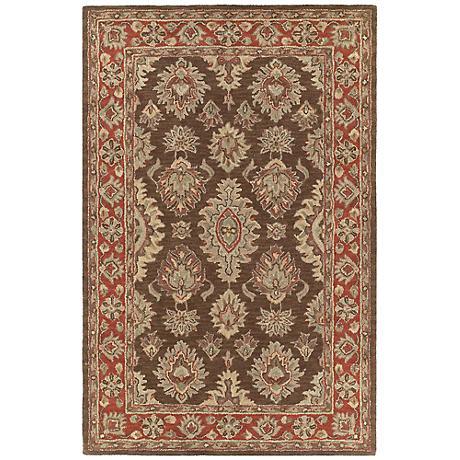 Kaleen Khazana 6579-51 Negril Coffee Wool Area Rug