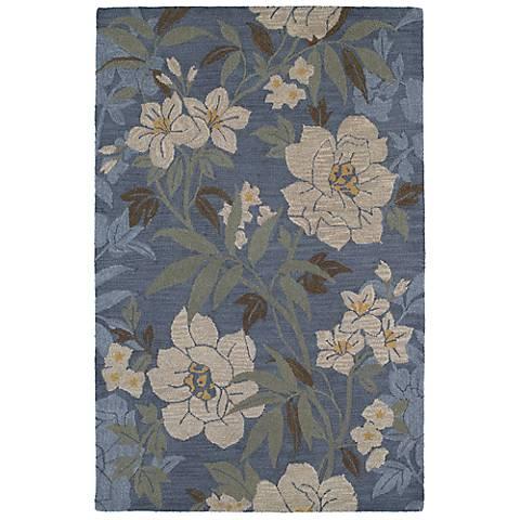 Kaleen Khazana 6591-66 Kauai Azure Wool Area Rug