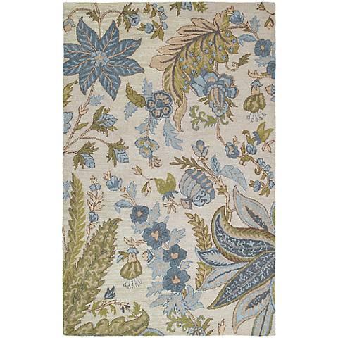 Kaleen Khazana 6592-01 Bali Ivory Wool Area Rug