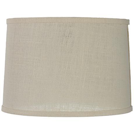 Cream Burlap Drum Lamp Shade 13x14x10 (Spider)